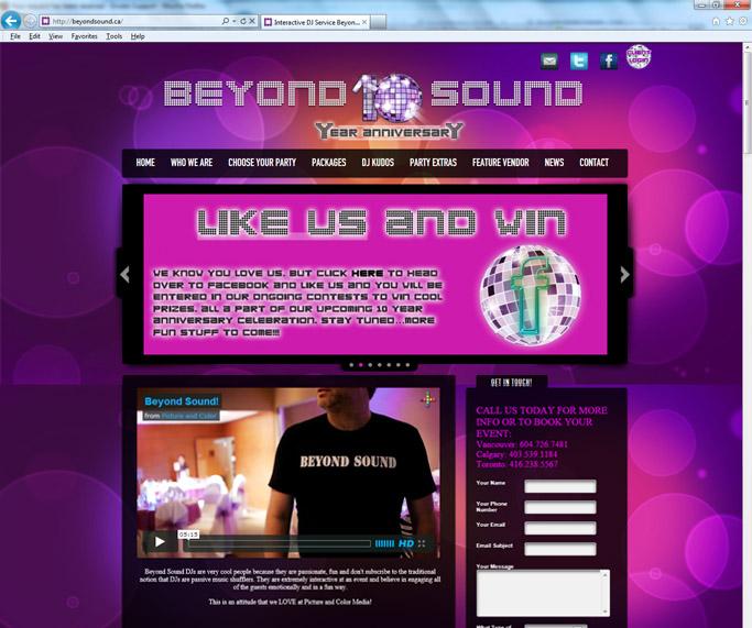 Beyond Sound Website