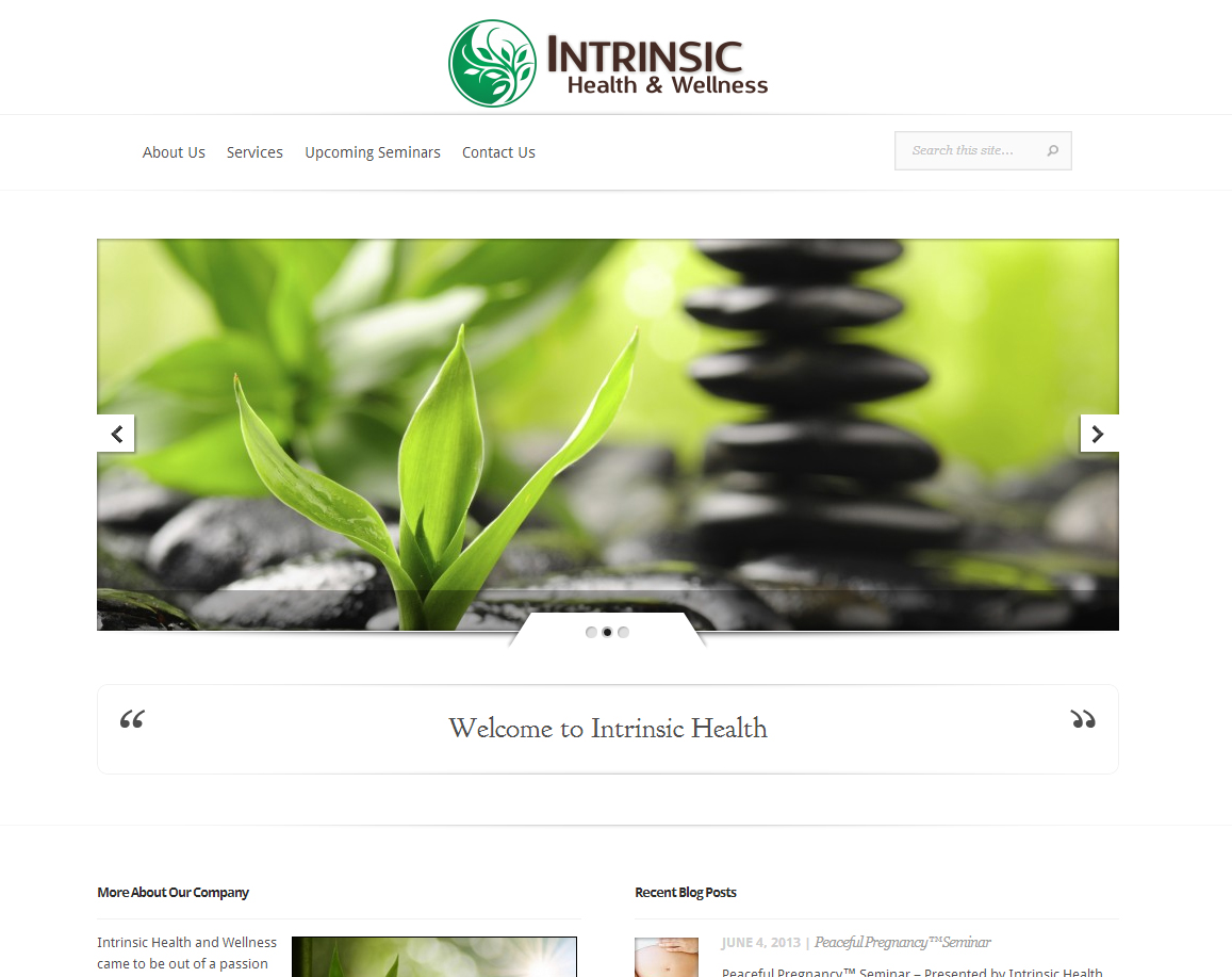 Intrinsic Health & Wellness Website