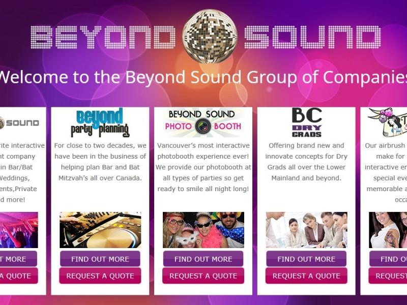 Beyond Sound Landing Page