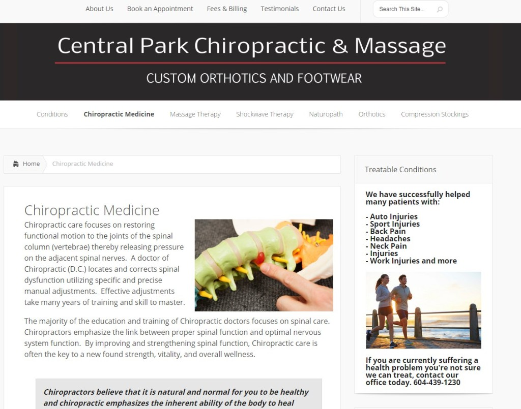 Central Park Chiropractic Massage