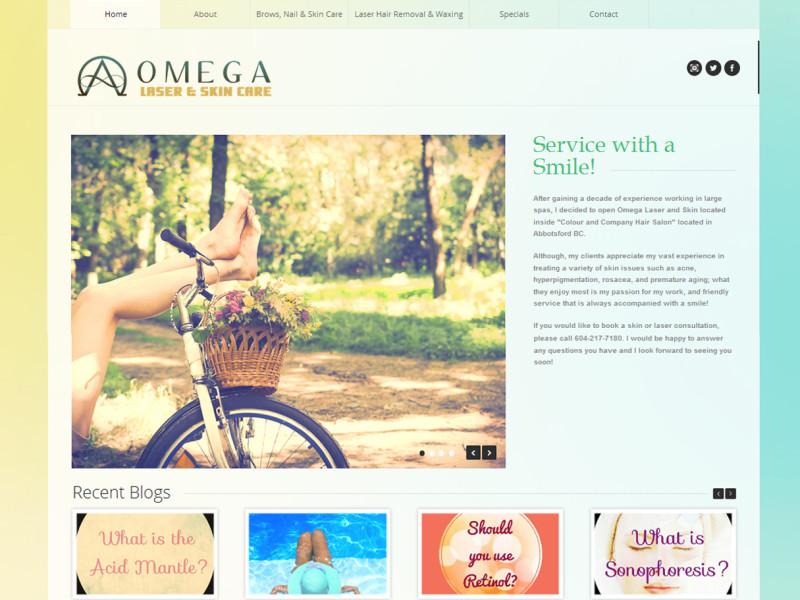 omega laser-homepage
