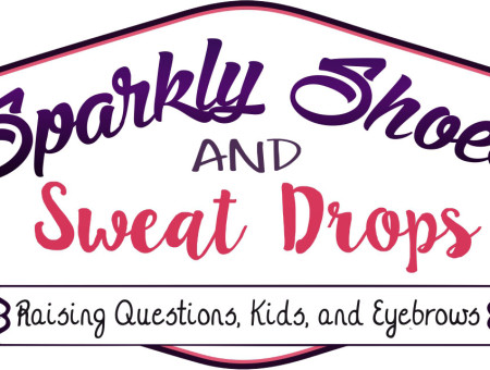 Sparkly Shoes & Sweat Drops Logo