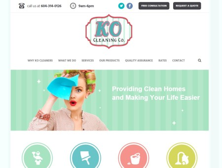 KO Cleaning Co. Website