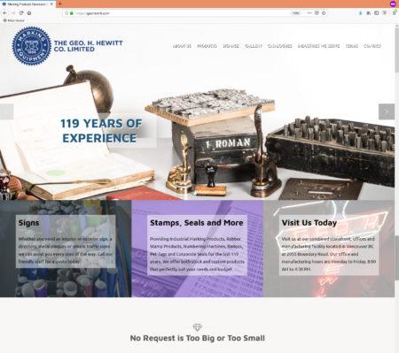Geo Hewitt Website